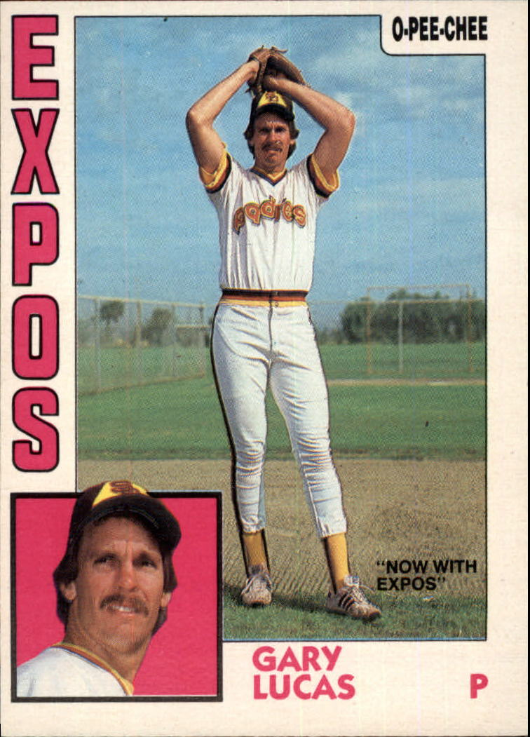 1984 O-Pee-Chee #7 Gary Lucas/Now with Expos