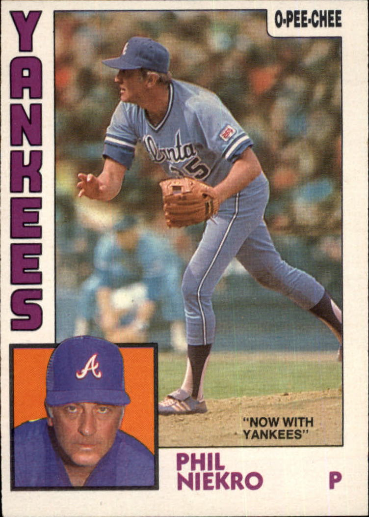 1984 O-Pee-Chee #29 Phil Niekro/Now with Yankees