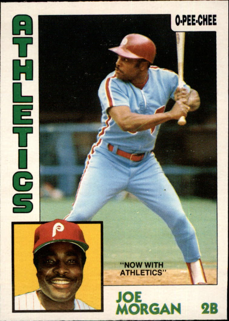 1984 O-Pee-Chee #210 Joe Morgan/Now with Athletics