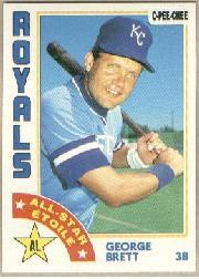 1984 O-Pee-Chee #223 George Brett AS