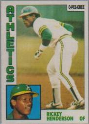 1984 O-Pee-Chee #230 Rickey Henderson