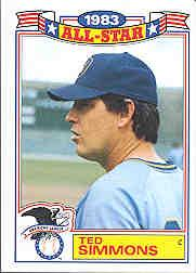 1984 Topps Glossy All-Stars #9 Ted Simmons
