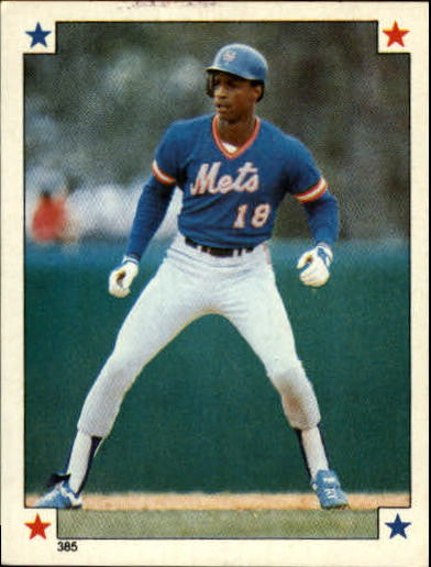 1984 Topps Stickers #385 Darryl Strawberry