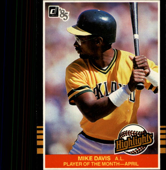1985 Donruss Highlights #3 Mike Davis