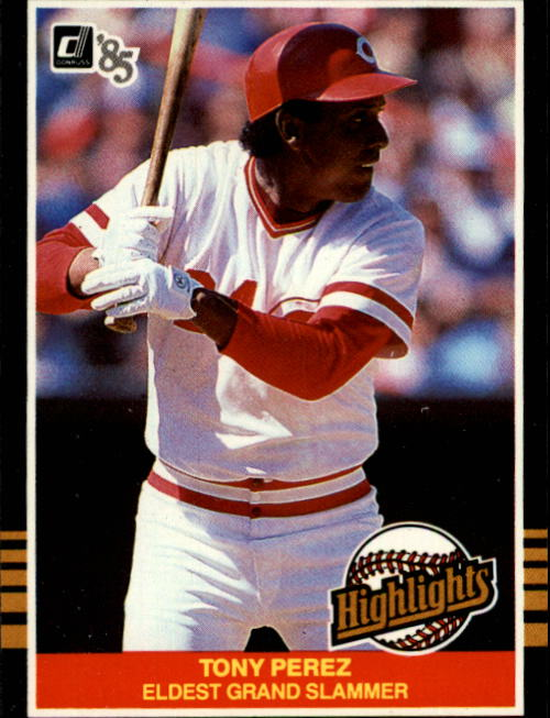 1985 Donruss Highlights #9 Tony Perez