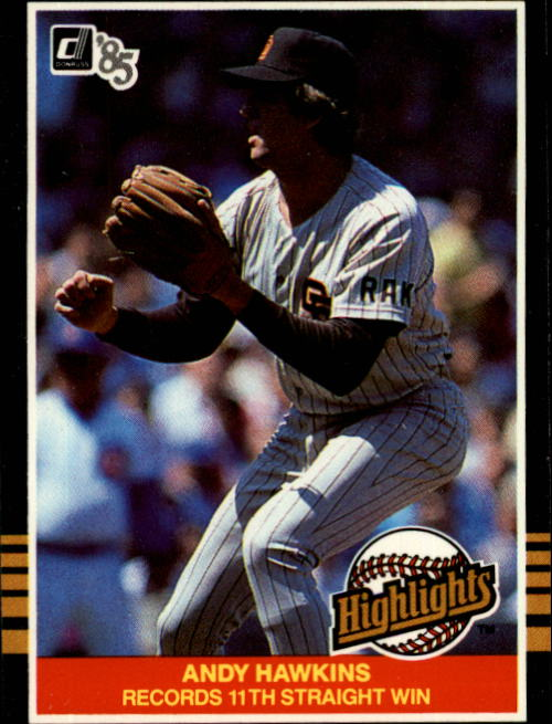 1985 Donruss Highlights #15 Andy Hawkins