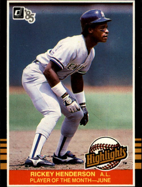 1985 Donruss Highlights #17 Rickey Henderson