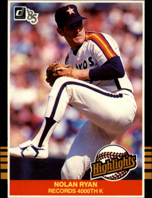 1985 Donruss Highlights #22 Nolan Ryan