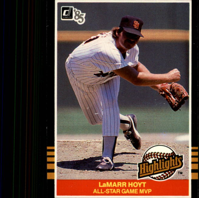 1985 Donruss Highlights #23 LaMarr Hoyt