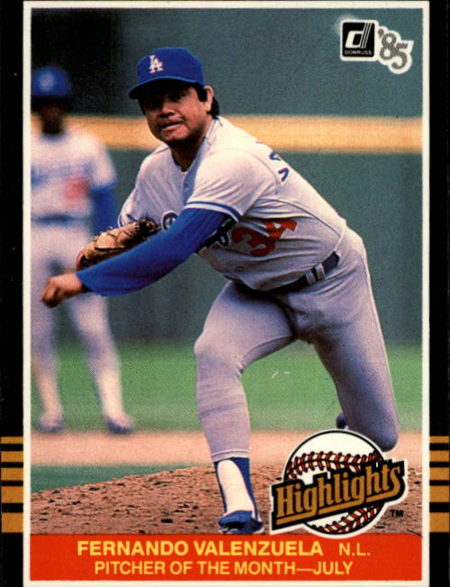 1985 Donruss Highlights #28 Fernando Valenzuela