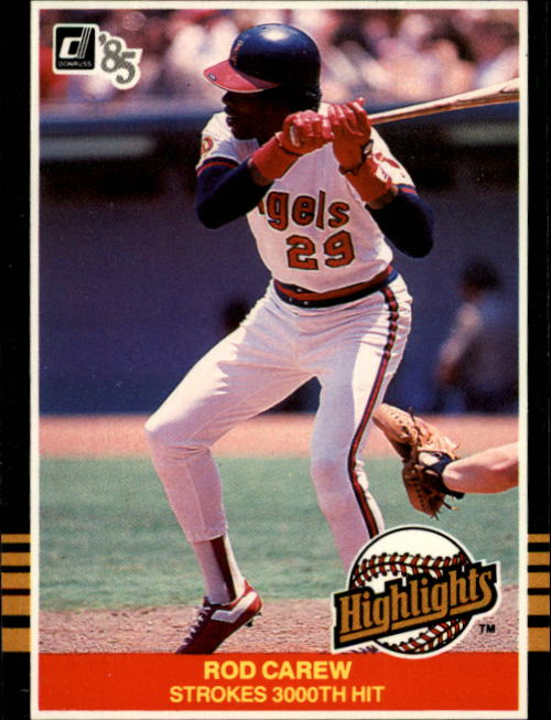 1985 Donruss Highlights #31 Rod Carew