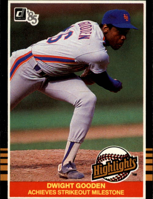 1985 Donruss Highlights #33 Dwight Gooden