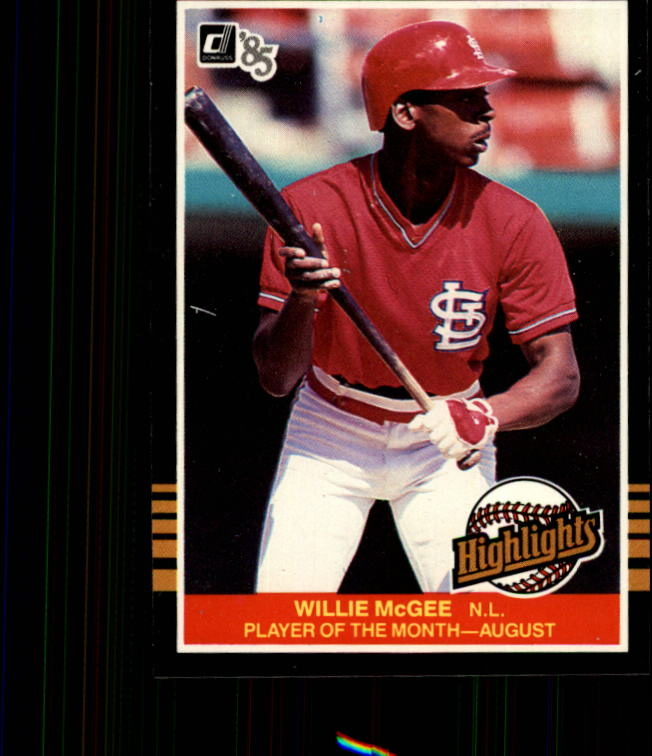 1985 Donruss Highlights #38 Willie McGee