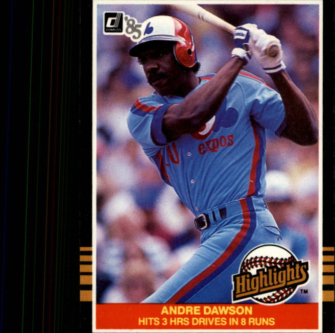 1985 Donruss Highlights #41 Andre Dawson