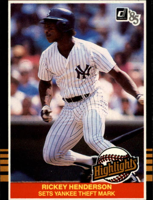 1985 Donruss Highlights #42 Rickey Henderson