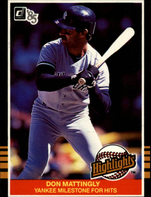 1985 Donruss Highlights #44 Don Mattingly