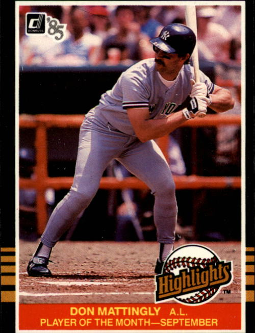 1985 Donruss Highlights #45 Don Mattingly