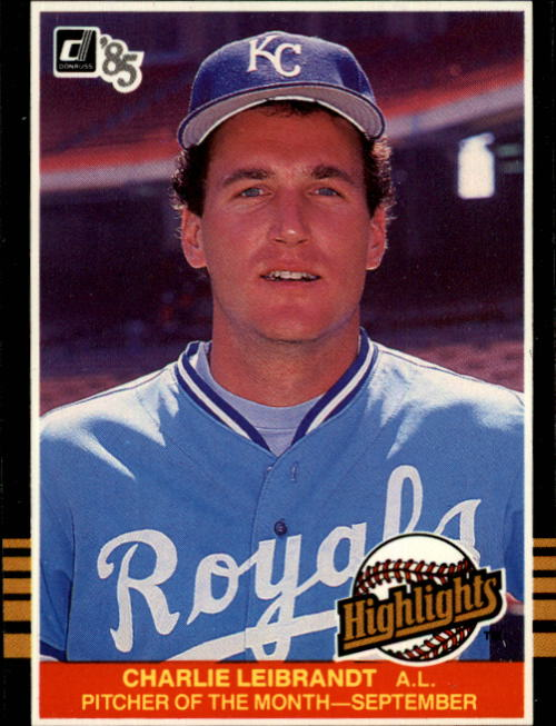 1985 Donruss Highlights #46 Charlie Leibrandt