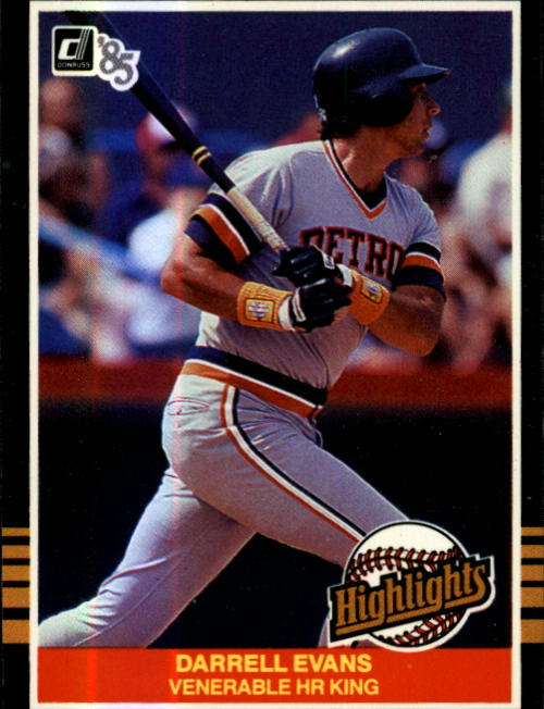 1985 Donruss Highlights #51 Darrell Evans