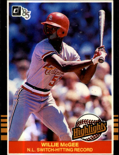 1985 Donruss Highlights #52 Willie McGee