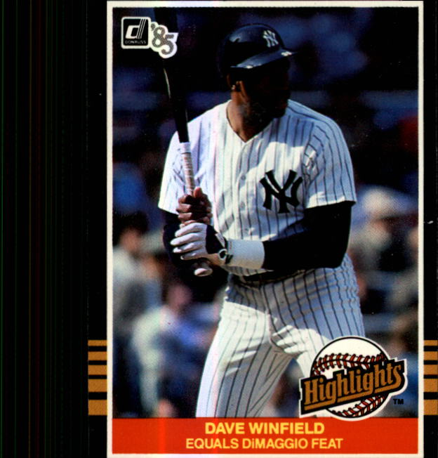 1985 Donruss Highlights #53 Dave Winfield