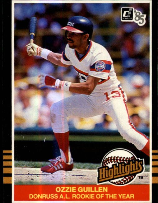 1985 Donruss Highlights #55 Ozzie Guillen