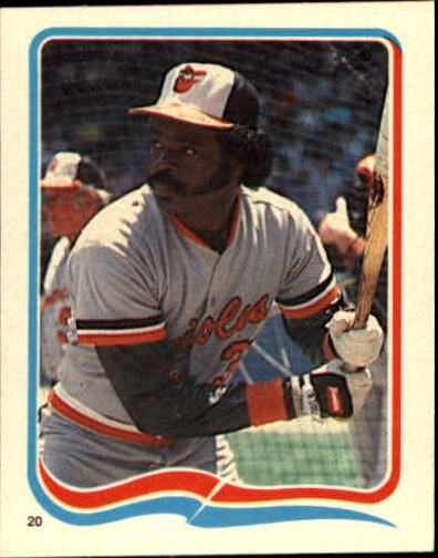 1985 Fleer Star Stickers #20 Eddie Murray