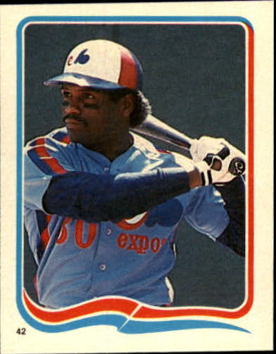 1985 Fleer Star Stickers #42 Tim Raines