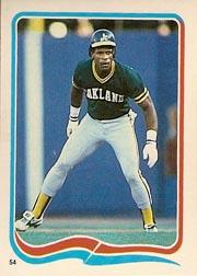 1985 Fleer Star Stickers #54 Rickey Henderson