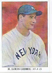 1985 Big League Collectibles 30s #49 Lou Gehrig