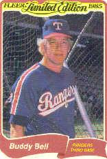 1985 Fleer Limited Edition #1 Buddy Bell
