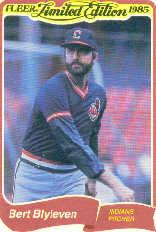 1985 Fleer Limited Edition #2 Bert Blyleven