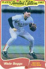 1985 Fleer Limited Edition #3 Wade Boggs