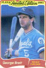1985 Fleer Limited Edition #4 George Brett