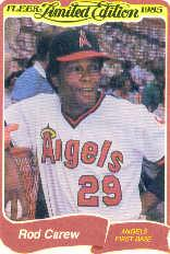 1985 Fleer Limited Edition #5 Rod Carew front image