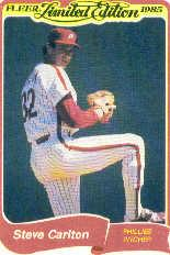 1985 Fleer Limited Edition #6 Steve Carlton
