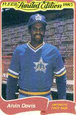 1985 Fleer Limited Edition #7 Alvin Davis