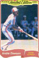1985 Fleer Limited Edition #8 Andre Dawson