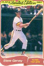 1985 Fleer Limited Edition #9 Steve Garvey