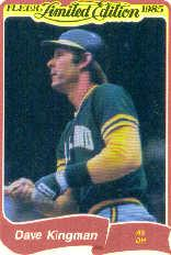 1985 Fleer Limited Edition #15 Dave Kingman
