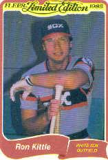 1985 Fleer Limited Edition #16 Ron Kittle