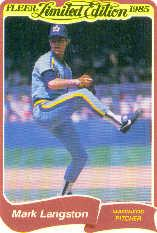 1985 Fleer Limited Edition #17 Mark Langston
