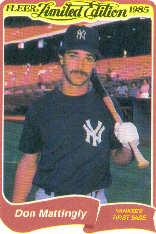 1985 Fleer Limited Edition #20 Don Mattingly