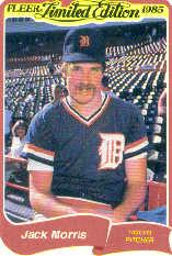 1985 Fleer Limited Edition #21 Jack Morris