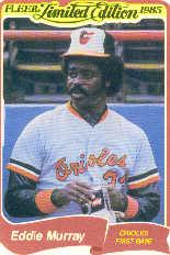 1985 Fleer Limited Edition #23 Eddie Murray