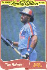 1985 Fleer Limited Edition #26 Tim Raines