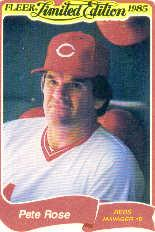 1985 Fleer Limited Edition #29 Pete Rose
