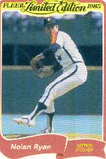 1985 Fleer Limited Edition #30 Nolan Ryan
