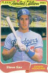 1985 Fleer Limited Edition #32 Steve Sax