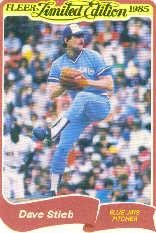 1985 Fleer Limited Edition #37 Dave Stieb